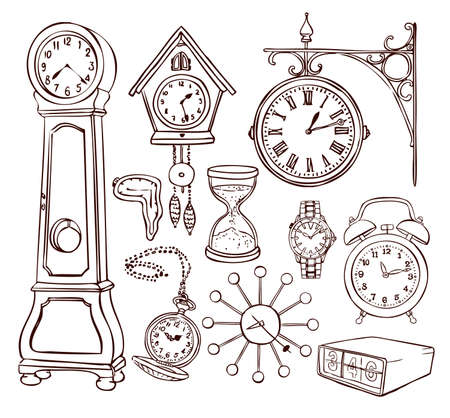 cuckoo clock: Collection of different clock