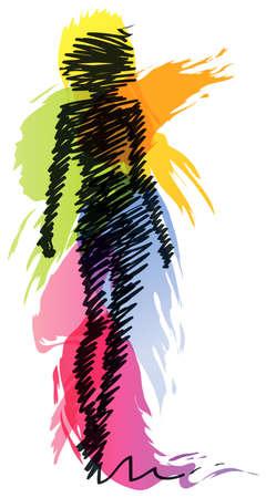 Fashion model silhouette Stock Vector - 27529859