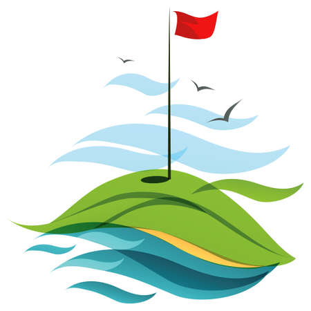 course of action: Golf field