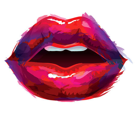 Beautiful lips Ilustrace