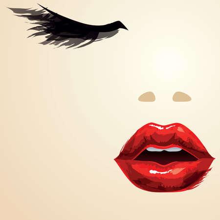 Gros plan du visage de femme Banque d'images - 27535810