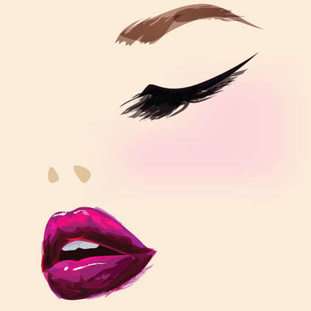 Beautiful make up face Vector