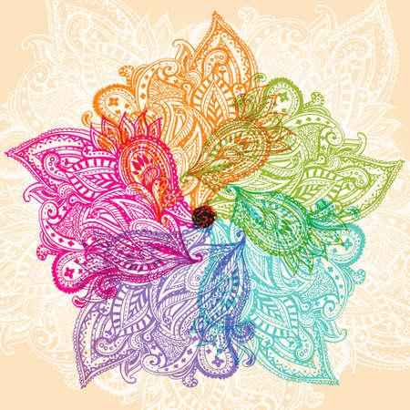 Mandala symbool Stock Illustratie