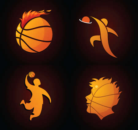 basketball ball on fire: Basketball icons