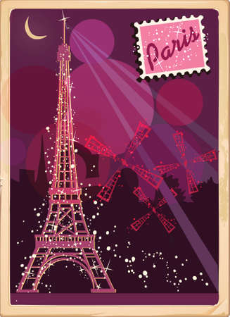 night: Paris postcard