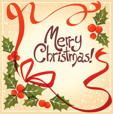 omela: Merry Christmas postcard