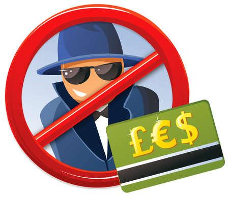 Credit Card fraud Vettoriali