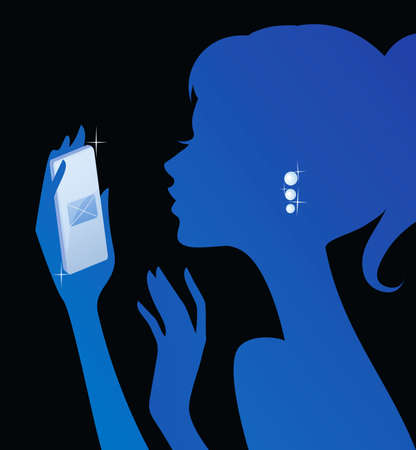 texting: Girl texting