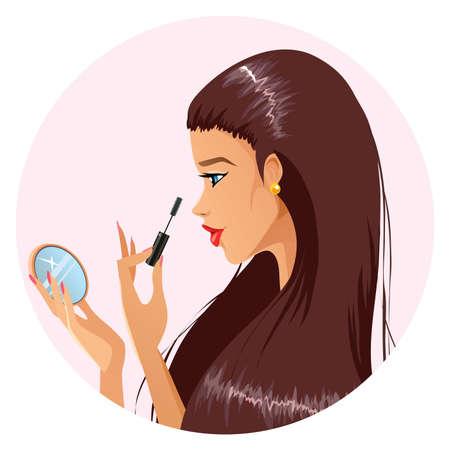 Make up time Illustration