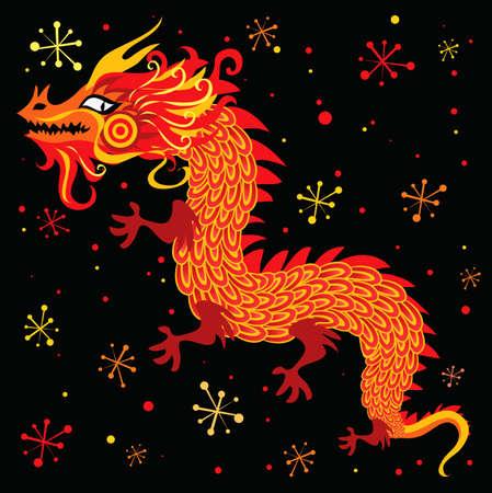 cartoon dragon: Chinese New Year Dragon