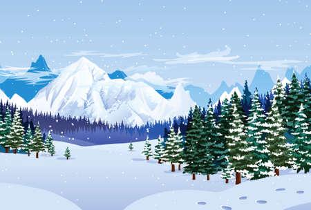 Romantische winterlandschap