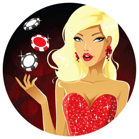 Cute gambler  イラスト・ベクター素材