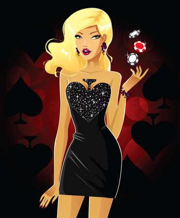 Queen of Spades Stock Illustratie