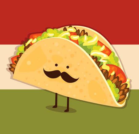 caricatura mexicana: Señor Taco