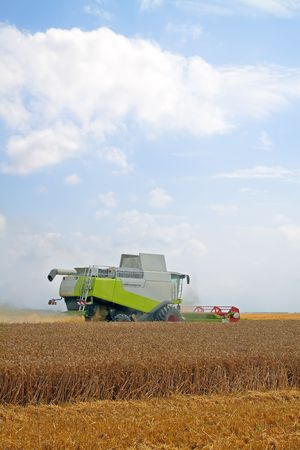 modern combine harvester working on a wheat crop Stock Photo - 7483382