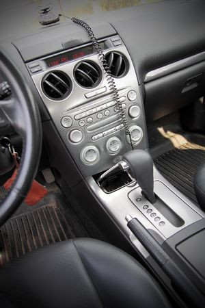 The center console car with automatic gearbox and handbrake photo