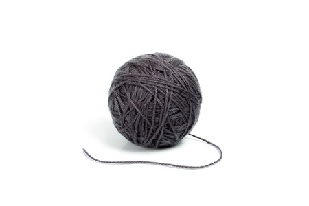 coziness: Gray ball of yarn for knitting