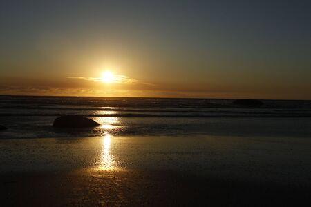 unedited: The Granites Beach Kingstone South Australia Sunset unedited Stock Photo