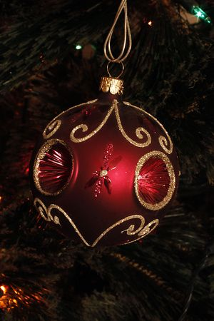 Christmas bauble Red Glass