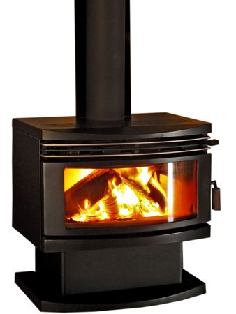 Combustion Wood Heater Stock Photo
