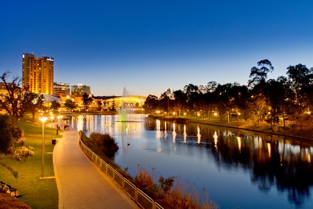 Torrens River Adelaide South Australia Stock Photo