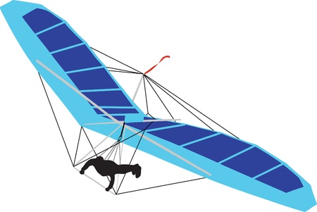 glider: Hang Glider Illustration Illustration