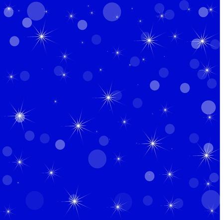 Stars and Circle Bokeh Illustration