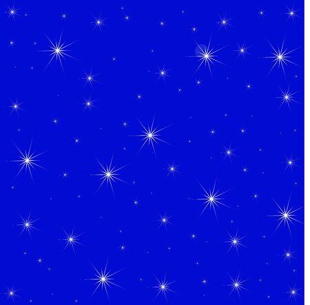 Stars on Blue Background illustration Stock Vector - 11301259