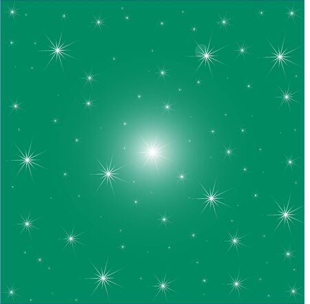 Stars on Green Background illustration
