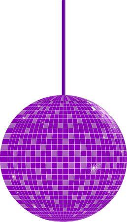 Purple Disco Ball Illustration