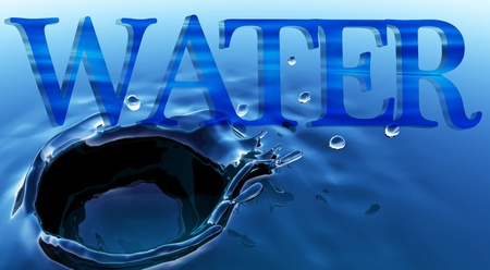 Water Typography