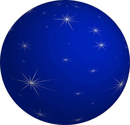 Blue Christmas Bauble Illustration