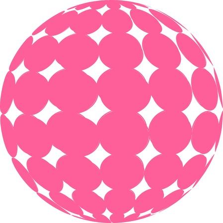 Pink Sphere Illustration