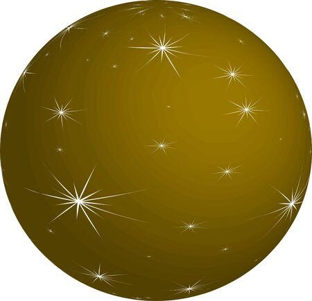 Gold Christmas Bauble Illustration
