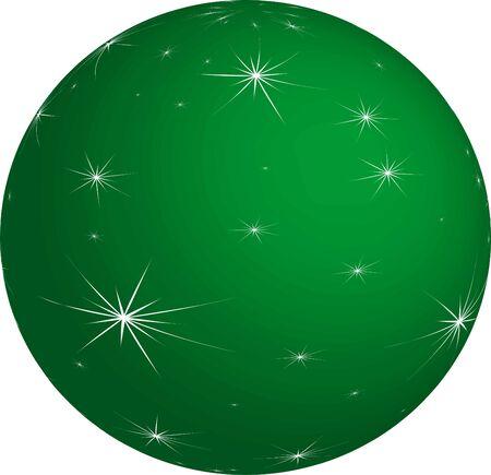 Green Christmas Bauble Illustration