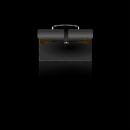 Tan & Black Briefcase Icon