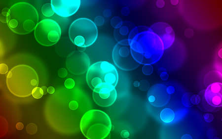 Rainbow Bokeh Background photo