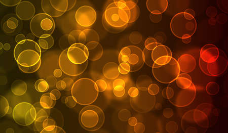 Red & Gold Bokeh Background