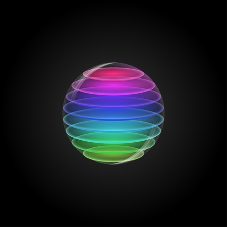 Multi Coloured Sphere Vector Vector