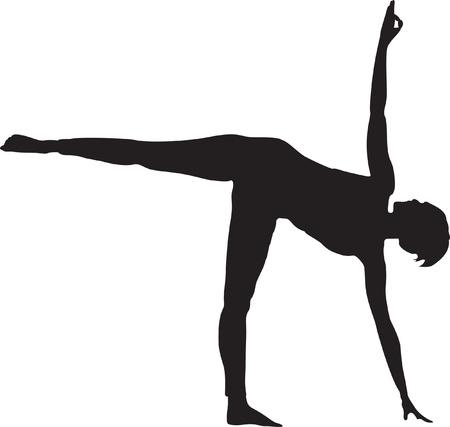 Yoga Position Illustration Stock Vector - 12483989