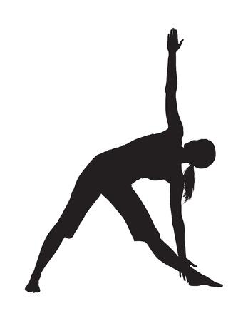 niyama: Yoga Position Illustration
