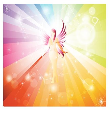 Rainbow Fairy Illustration
