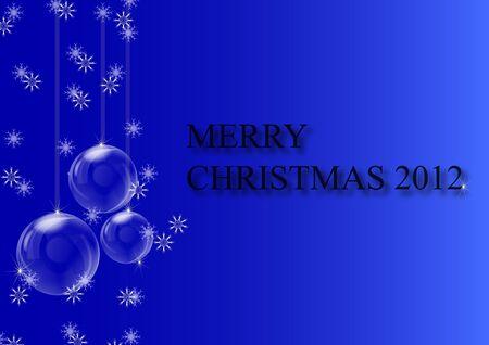 Blue Merry Christmas Illustration