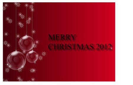 joyous:  Red Merry Christmas Illustration