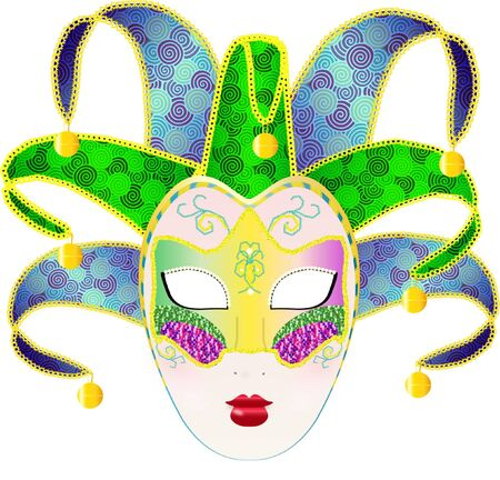 Carnivale Mask Illustration Vector