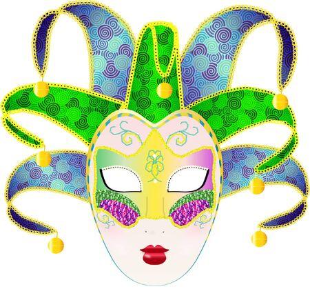 Carnivale Mask Illustration Illustration