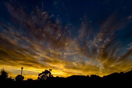 Sunset Yellow Stock Photo