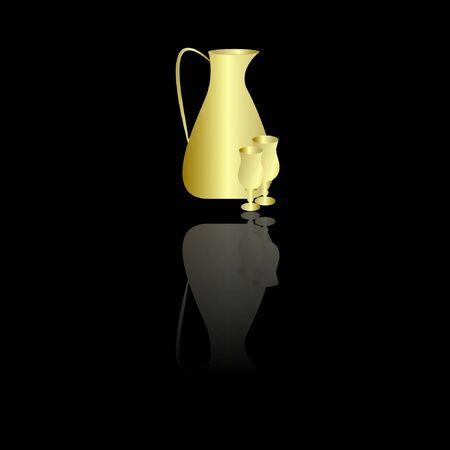 water jug: Water Jug   Glasses Illustration