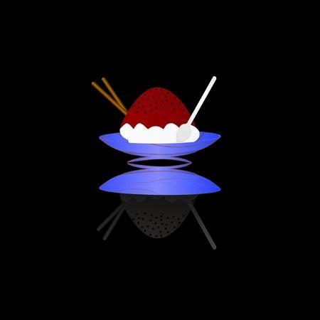 Bowl Of Ice cream Illustration