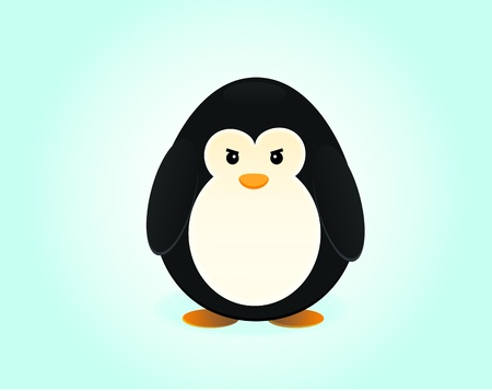 Penguin Illustration Stock Vector - 13754036